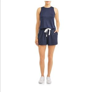 NWT time and tru hacienda romper navy blue soft